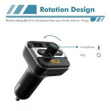 iClever Bluetooth Car Kit MP3 Player FM Transmitter SD LCD Dual USB Port Charger
