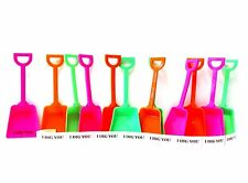 """10 Mix Lime Pink Orange Toy Shovels - 10 """"I Dig You"""" Strickers for Party Favors"""