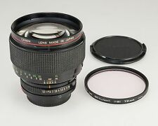 Canon New FD NFD 85mm f/1.2 L MF Lens