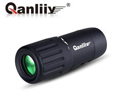 NEW QANLIIY 10x18 Mini Pocket-Size HD Optic Travel Monocular Telescope UK STOCK