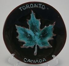 "Toronto Canada 235 Blue Mountain Pottery Maple Leaf Dish Plate 5 3/4"" Brown Blue"