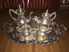 Reed & Barton ~ Sheffield Co. Silver-Plated 5-Piece Matching Tea Set ~ Ornate