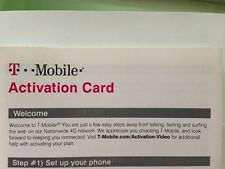 T-mobile Activation Card. T-mobile Activation Code. (SIM CARD NOT INCLUDED)