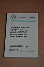 Baumusterverzeichnis MERCEDES-BENZ, NFZ, Stand 08/97 Model index