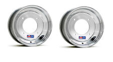 "DWT Polished ATV 2+3 Front Wheels Rims PAIR 10"" Honda 450R 400EX 250R 300EX 250X"