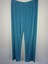 Almia Loose Fit Stretch Polyester Trousers Size 14 Turquoise  R8325