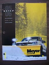 Original 2005 2006 Meyer Commercial Municipal Snow Plow Systems Booklet