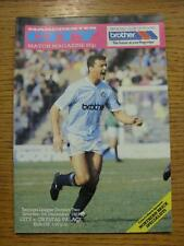 05/12/1987 Manchester City v Crystal Palace  (No Apparent Faults)