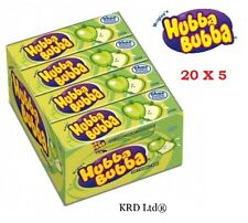 Hubba Bubba 20 Packs Of 5 ATOMIC APPLE Chewing Gum 100 x Party Birthday FULL BOX