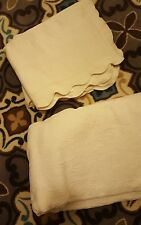 Full Queen Creamy White Matelasse Coverlet Bedspread with 2 Shams Portugal
