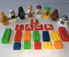 Edible  Sugarpaste Star Wars & Bricks Cake Topper  Birthday Party Decorations