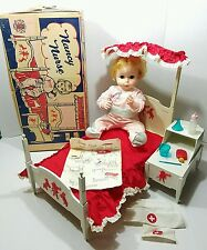 Vintage 1963 Deluxe Reading Nancy Nurse Doll w/Pajamas & Box - Complete & Works!