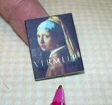 "Miniature ""Vermeer"" Coffee Table Book Illustrated-Color DOLLHOUSE 1/12 Scale"