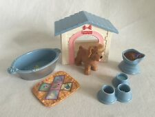 Fisher-Price Loving Family Dog Pet Dog House & Accessories Dollhouse 6pc