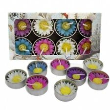 Water Lily Flower Scented Tea Light Candles - Pack of 8.   Fair Trade