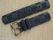 Blue Rubber Strap Band 21mmX12mm WSilver Buckle Clasp fit LV Tambour Watch