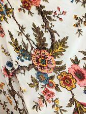 """White Rose Flower Vine Pattern Silk Velvet Blend 54"""" Inch Fabric By The Yard"""