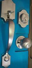 ULTRA HANDLE DOOR LOCK SET ENTRANCE 44572  SATIN NICKEL W/ DEADBOLT