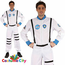 Adults Mens NASA Astronaut Spaceman Space Flight Suit Fancy Dress Party Costume