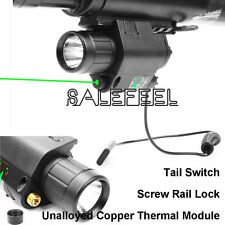 Hunting Green Laser Sight & CREE LED Flashlight  Combo 20mm QD Rail Mount