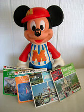 "1960s Mickey Mouse Fan Pack! 12 Disneyland GAF ViewMaster Reels+12"" Mickey Doll!"