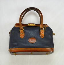 DOONEY & BOURKE Vintage Distressed Blue Brown AWL Leather Doctor Hand Bag Purse