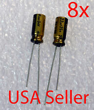 8x   22uF 25V Nichicon MUSE FG (Fine Gold) Audio-Grade Capacitor, USA Seller