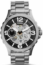 Fossil Men's ME3129 Nate Automatic Chronograph Skeleton Stainless Steel Watch