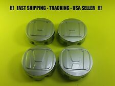 4 NEW For Honda Wheel Center Hub Caps 58mm Silver Grey Civic S5A USA SELLER