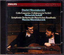 Heinrich SCHIFF: SHOSTAKOVICH Cello Concerto No.1 & 2 CD Maxim Schostakowitsch