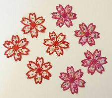 8x Embroidered floral flowers appliques/motif/patche Iron on or sew on craft