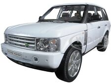 2003 LAND ROVER RANGE ROVER WHITE 1:24 DIECAST MODEL CAR BY WELLY 22415