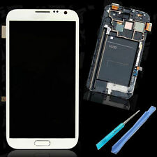 New Samsung Galaxy Note2 N7100 Frame Display Touch Digitizer Screen White