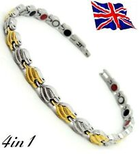 Anion Magnetic Fir Energy Germanium Stones Power Bracelet Health 4in1 Bio lady's