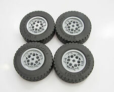 4 X NEW LEGO TECHNIC USEFUL PARTS LARGE WHEELS FROM SET 42009 CRANE w20t