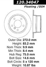 Disc Brake Rotor-High Performance Slotted Centric 126.34047SL fits 96-02 BMW Z3