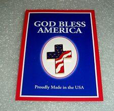 """GOD BLESS AMERICA USA FLAG RED WHITE & BLUE CHRISTIAN JESUS CROSS 1"""" PIN"""