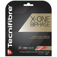 TECNIFIBRE X-One BIFASE Stringa di tennis - 12m - 1.18mm/18g - Rosso-GRATIS UK P & P