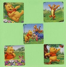 15 Playful Winnie the Pooh - Tigger, Piglet - Large Stickers - Party Favors