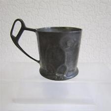Antique Art Nouveau/Jugendstil Kayserzinn Pewter Tea Glass Holder - 4519