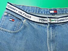 Vtg Tommy Hilfiger Jeans Men's 36X30 Spellout White Waistband