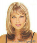 Hot Sell Fashion Medium Blonde Mix Brown Straight Women's Lady Hair Wig Wigs+Cap