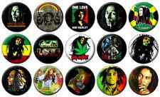 "BOB MARLEY - Lot of 15 - Pin Back - 1"" Buttons Badges (One Inch) – Set"