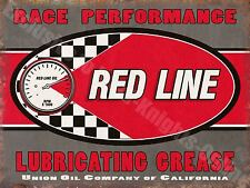 Vintage Garage, Red Line, Grease Motor Oil Racing, Old Car, Small Metal/Tin Sign