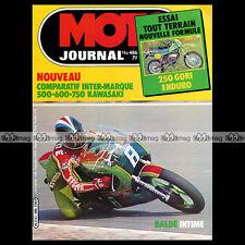 MOTO JOURNAL N°486 DUCATI 600 PANTAH JEAN-FRANCOIS BALDE JEAN-MICHEL BARON 1980