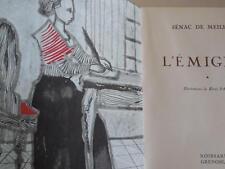 ROISSARD SÉNAC DE MEILHAN, L'ÉMIGRÉ, ILLUSTRATIONS DE HENRI PATEZ, VOLUME 1 ET 3