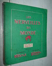 ALBUM NESTLE KOHLER CHOCOLAT 1954-1955 COMPLET 216 IMAGES MERVEILLES DU MONDE