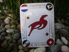 vintage PORSCHE TREFFEN STUTTGART DÜSSELDORF 1960 enamel Car Badge Plakette