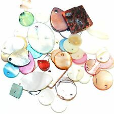 MP2644f Assorted Color Drop, Link & Button 10-34mm Mother of Pearl Bead Mix 1oz