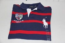 Ralph Lauren Men's Big Pony Navy/Red Stripe Rugby/Polo-Size Medium -NWT